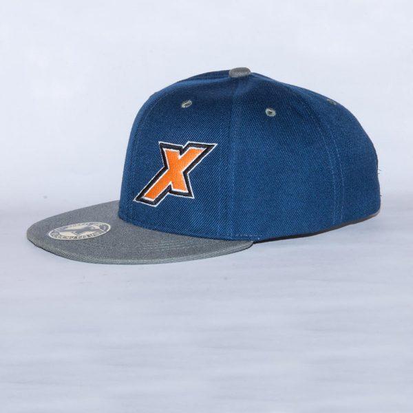 Xpeed gorra plana azul vicera gris snap cap