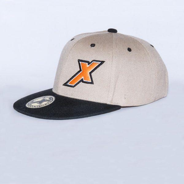 Xpeed gorra plana beige vicera negra snap cap