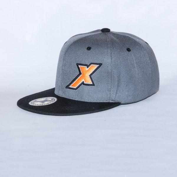 Xpeed gorra plana gris vicera negra snap cap