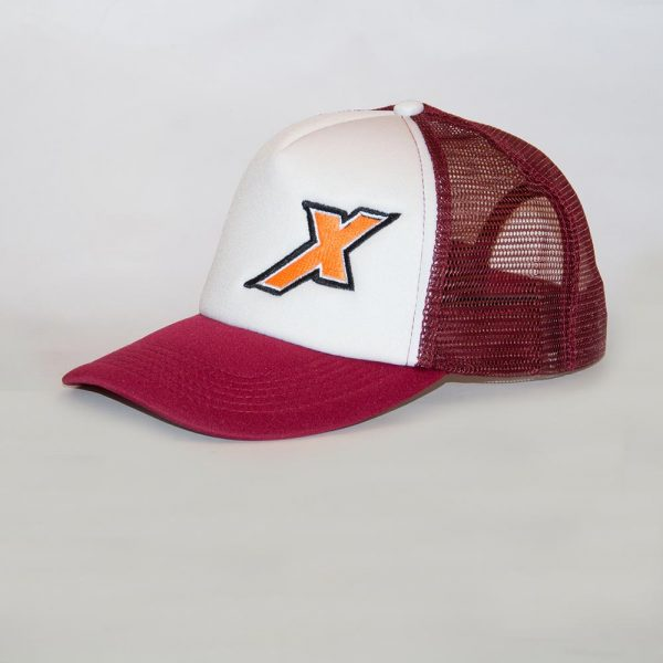 Xpeed gorra trucker bordo y blanca cap